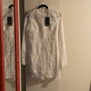 Long Sleeve Lace Sheath Dress - Haute Rogue